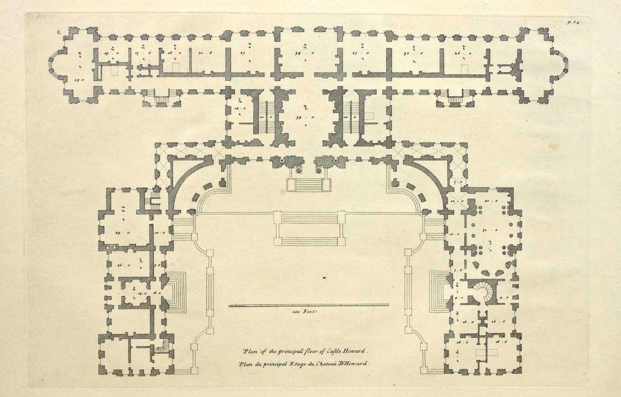 Floor Plan Of Castle Howard England Castle Howard Castle Floor Plan Castle Plans