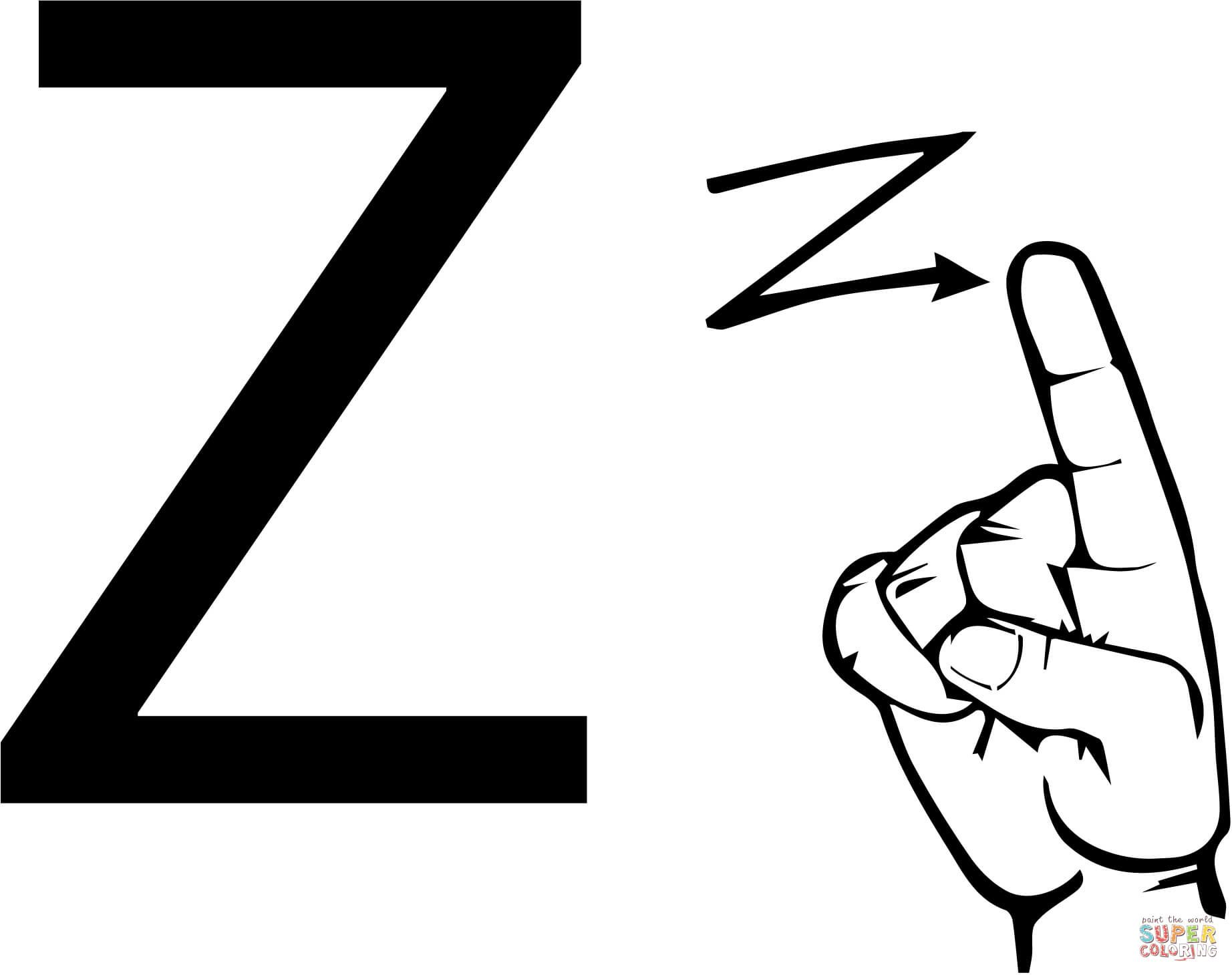American Sign Language Coloring Pages
