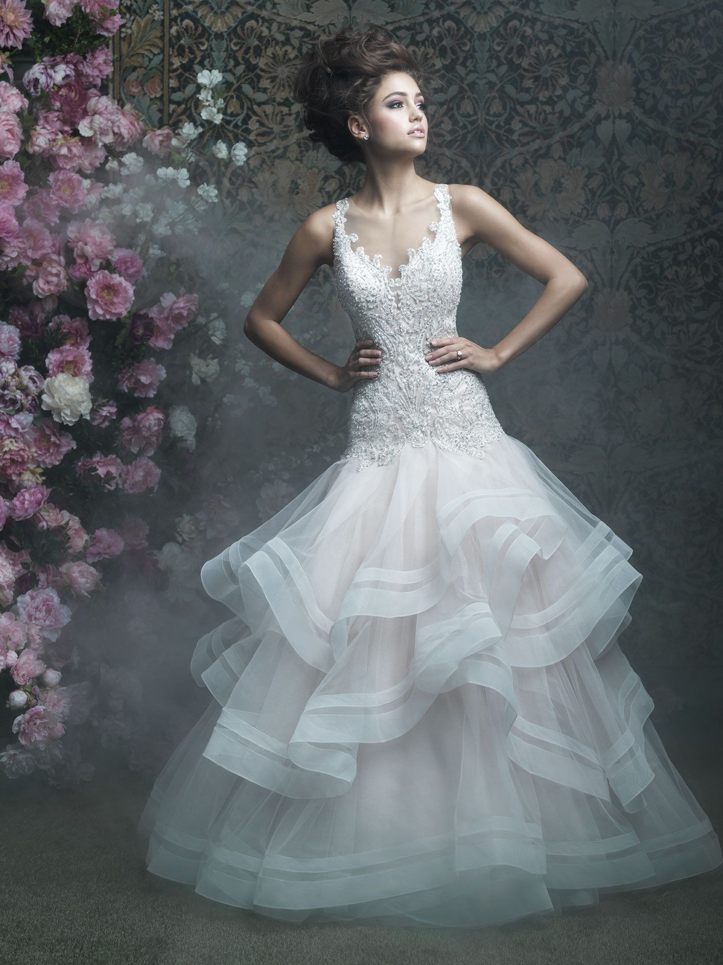 COMING SOON! Allure Couture C405 Ivory/Nude/Silver Size 14 | Dresses ...
