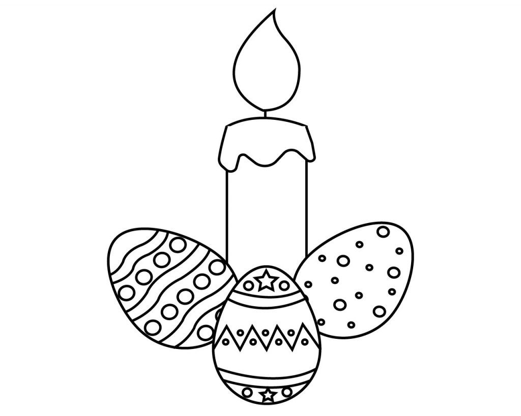 Candle Coloring Page For Your Little Ones Birthday Christmas Simple Easter And Cupcake With Candle Coloring In 2020 Colorful Candles Coloring Pages Easter Candles