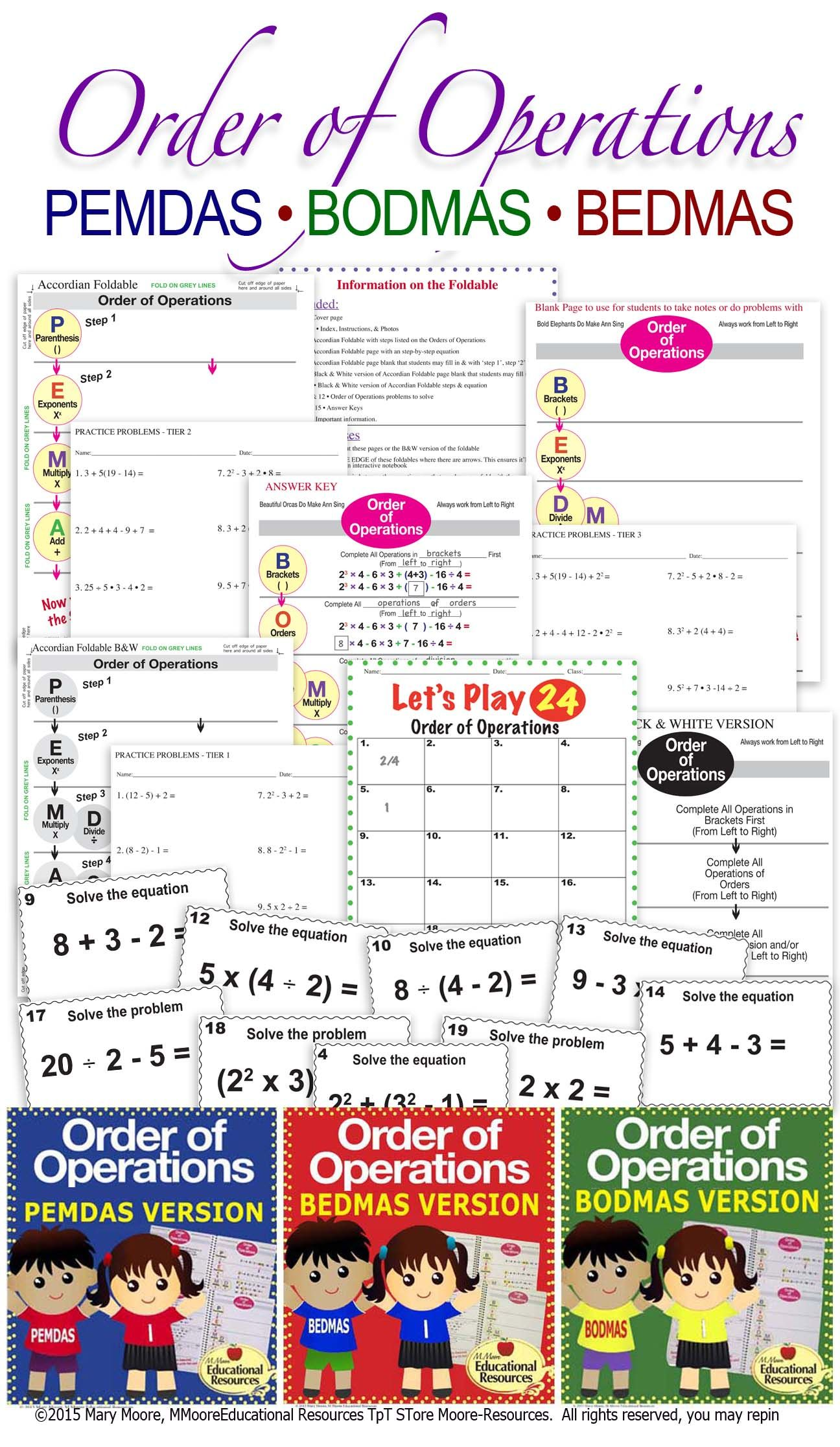 Do You Need A Bundle To Teach And Reinforce The Order Of Operations Then This Is The Bundle