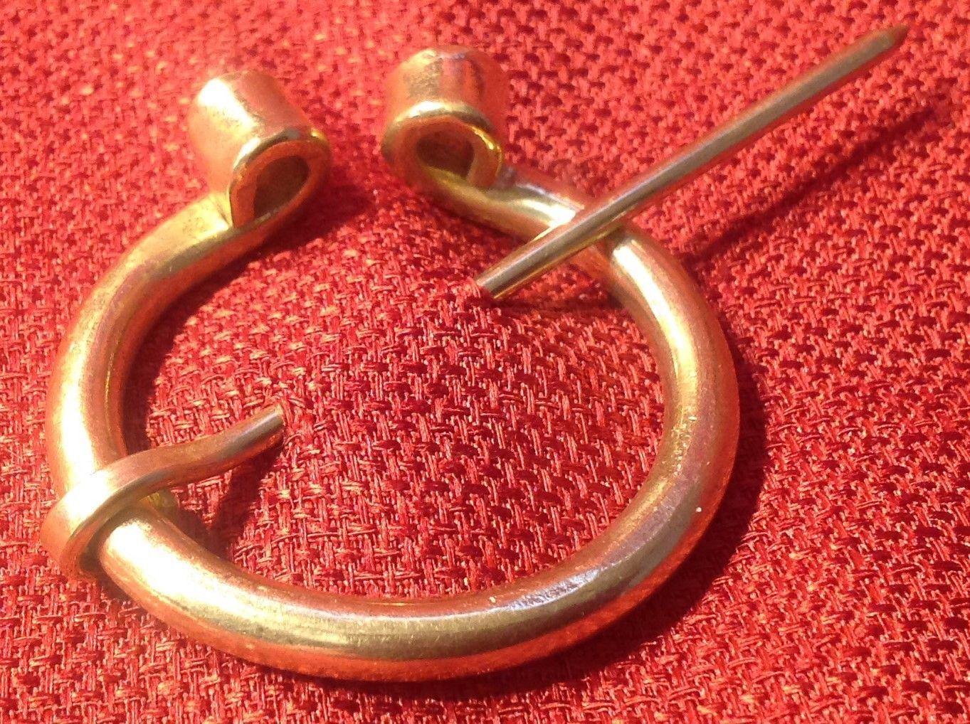 Nice Viking Penanular Solid Brass Curl Brooch Fibulae SCA Celtic Medieval  Renaissance | EBay