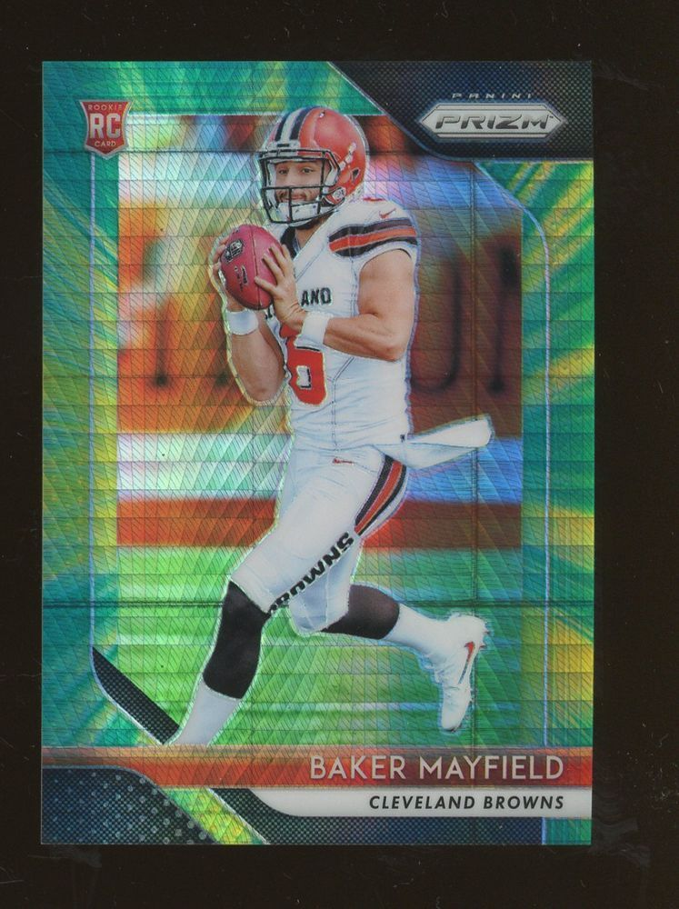 2018 panini prizm hyper 201 baker mayfield browns rc