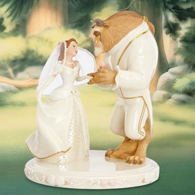 belle s wedding dreams disney wedding day cake topper lenox