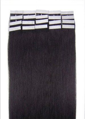 16-24 Inch Color Long 17 Colors 5 Length Tape in Premium Remy Human Hair Extensions_20 Pcs Set 70g Weight Straight Women Beauty Salon Style Design (16inch 30g with 20pcs, #1B black with brownish):   because of light , the colour maybe a little different with real human hair colour Our wide range of Remy Tape Hair Extensions has only selected on premium quality hair and then processed in a variety of colors and shades without diminishing quality. They can be reused and will last long an...