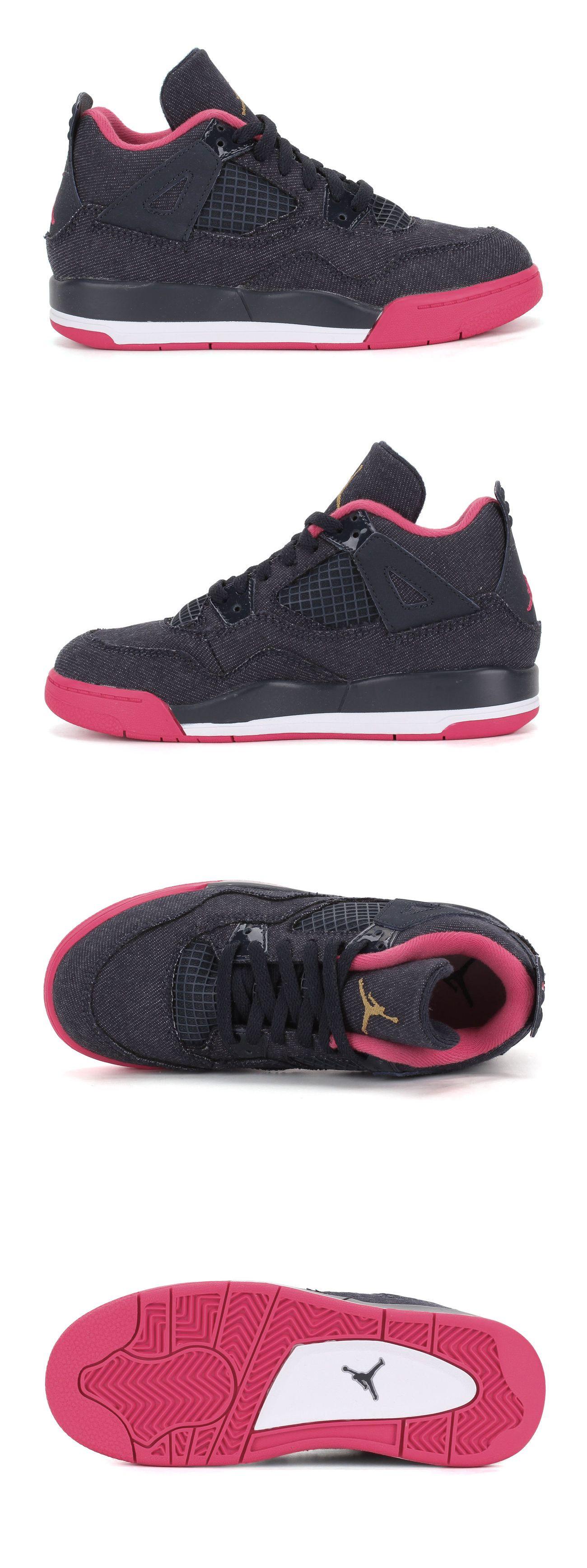 9dd1103b6b9e Unisex Shoes 155202  Nike Air Jordan Retro 4 Denim 487725 408 Youth Ps  Little Kids