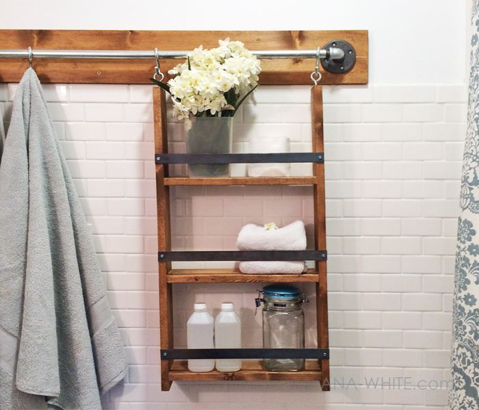 Hanging Bathroom Shelves Alluring Gabriel Wall System Hanging Organizer Ana White  Hanging Design Ideas