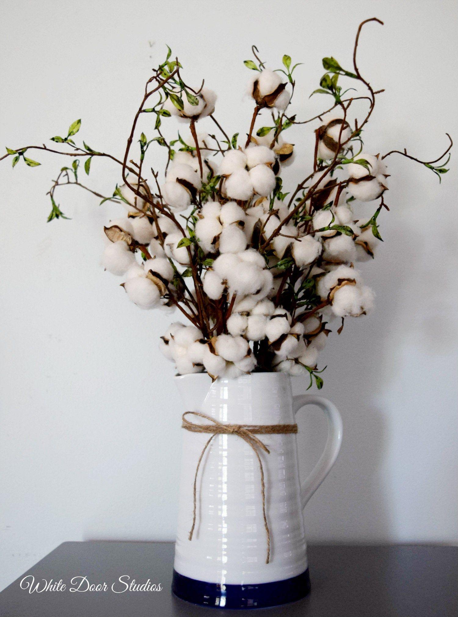 Lambs Ear Arrangement Cotton Stem Arrangement Lavender Arrangement Rustic Farmhouse Decor Arranjos De Flores Rusticos Flores Rusticas Almofadas Artesanais