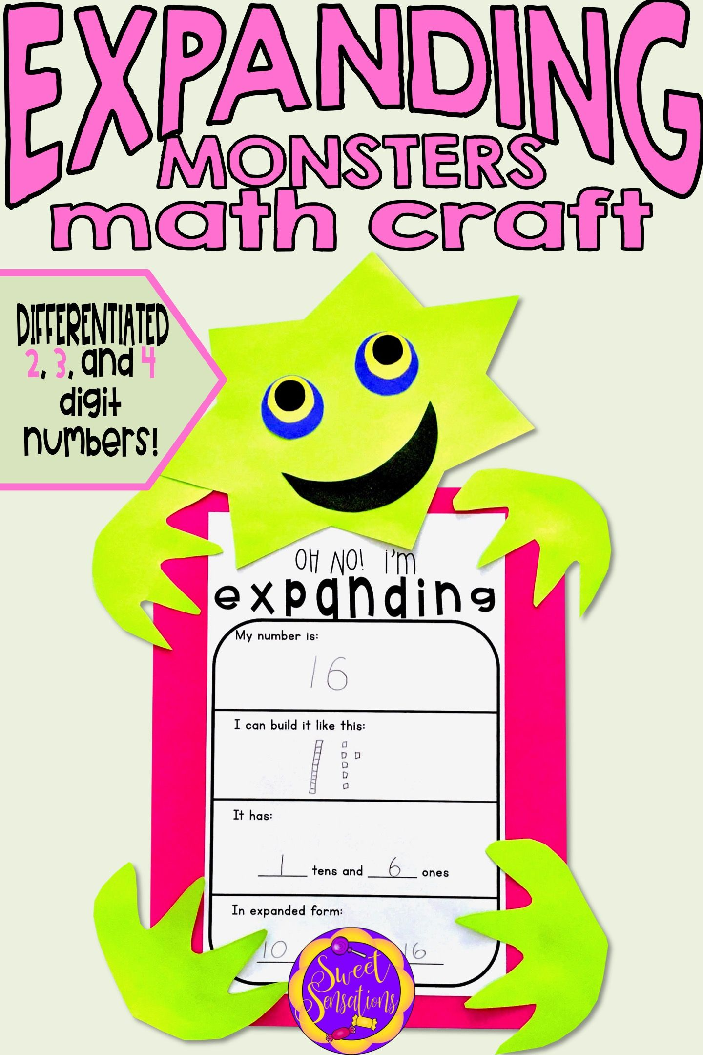 Place Value Craft Activity (Expanded Form) | Place value ...