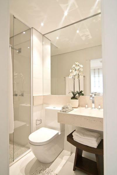 Cómo decorar baños pequeños Small bathroom, Toilet and Bath - decoracion baos pequeos