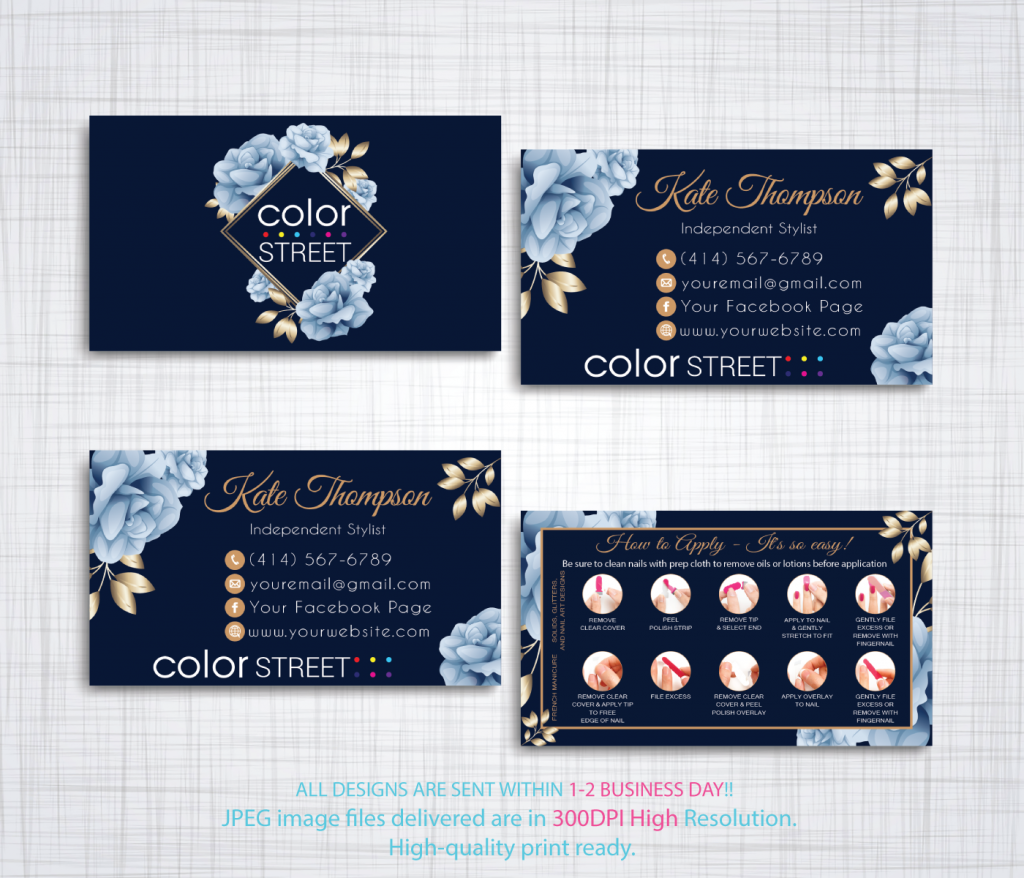 Personalized Color Street Application Card, Color Street