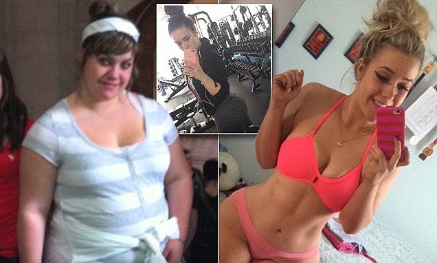 Kiersten Zimmerman, 18, from Edmonton in Alberta, Canada, lost nearly 100 pounds after years of being bullied for her weight. At her heaviest, Kiersten, who is studying to be a personal trainer, was 230 pounds