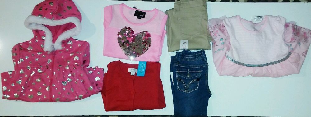 Toddler girls size 3t 6-piece Children's Place Paris mixed clothing lot #ChildrensPlace #DressyEverydayHoliday