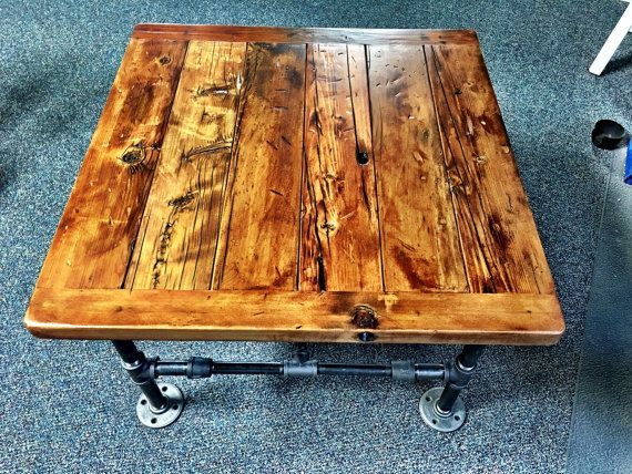Square Coffee Table made with door Reclaimed €258.79 - NV