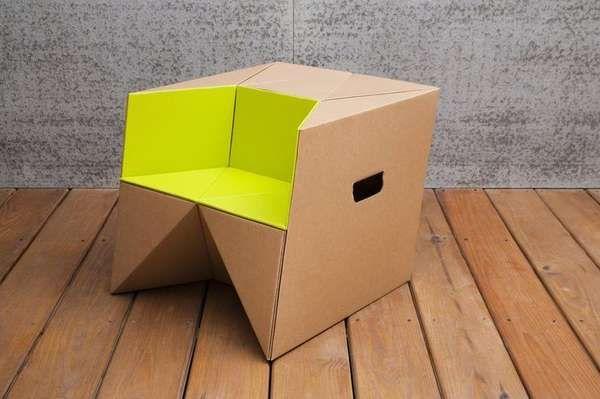 cardboard origami child stools kids pinterest