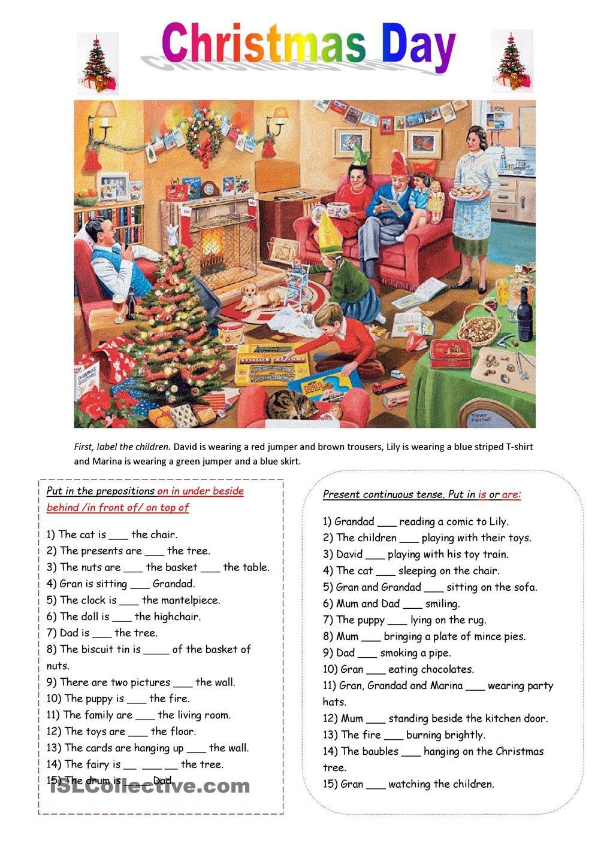 Christmas Day  Verbs and grammar  Pinterest  English