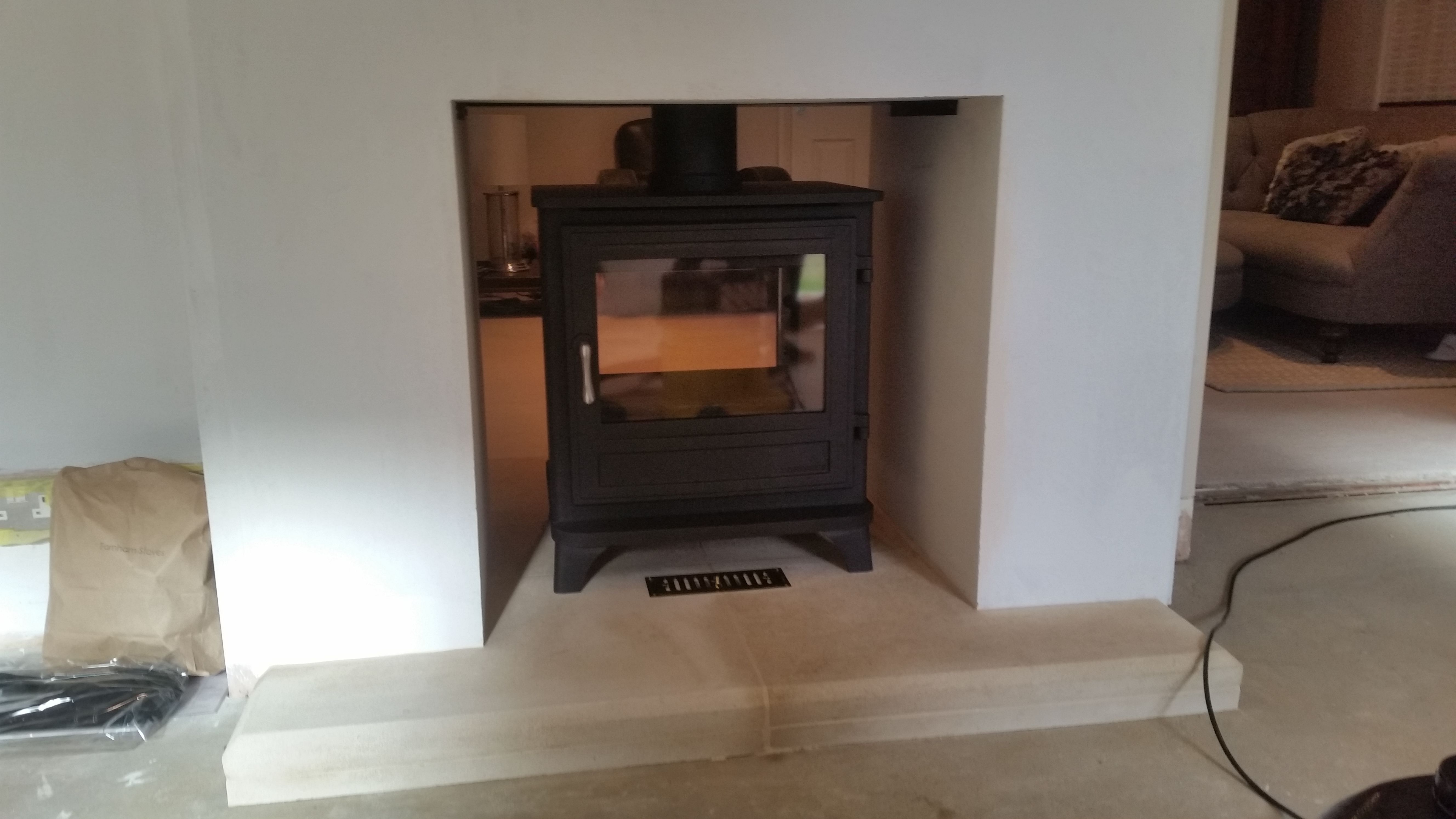 Chesneys Salisbury 10Kw Double Sided Set Upon A Bathstone Hearth
