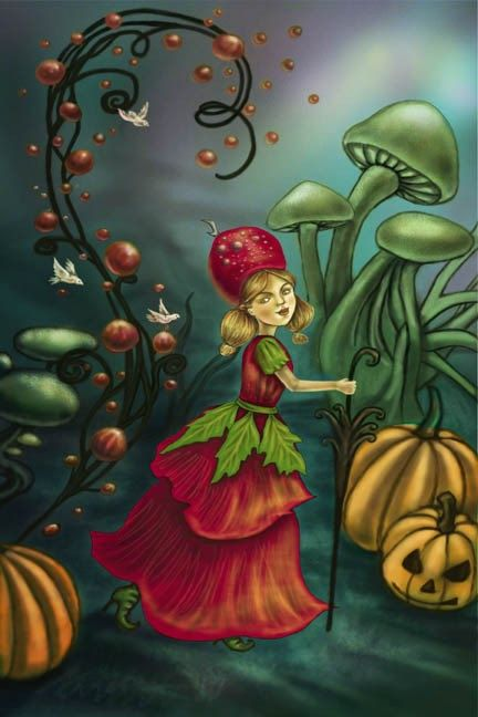 Rose Fairy Jewelry Flower Girl Painting FANTASY by DianaLevinArt, $15.00