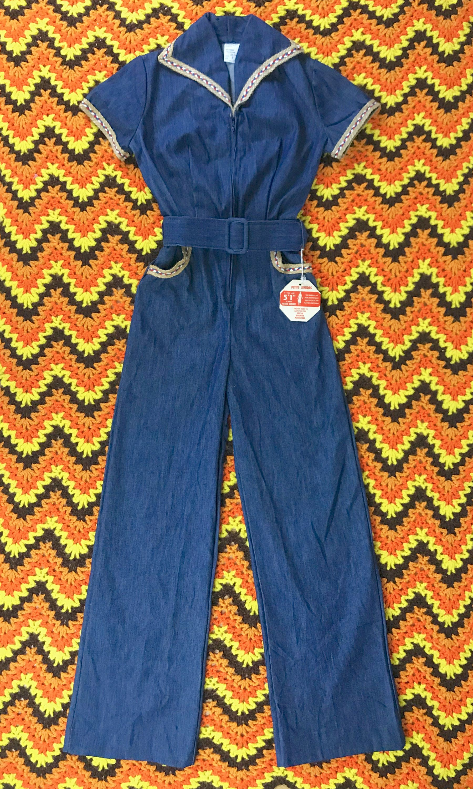 4305be9d9eeb 1970s denim jumpsuit