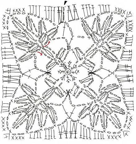野バラのドイリー(編み図付き、コースター、薔薇、ばら)の画像:Crochet a little