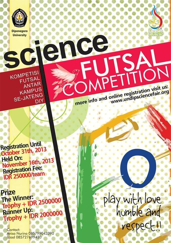 Poster Futsal Competition Desain Grafis Desain Olahraga