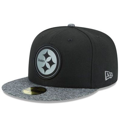 d6f13373 Men's Pittsburgh Steelers New Era Black/Gray NFL Collection 59FIFTY Fitted  Hat