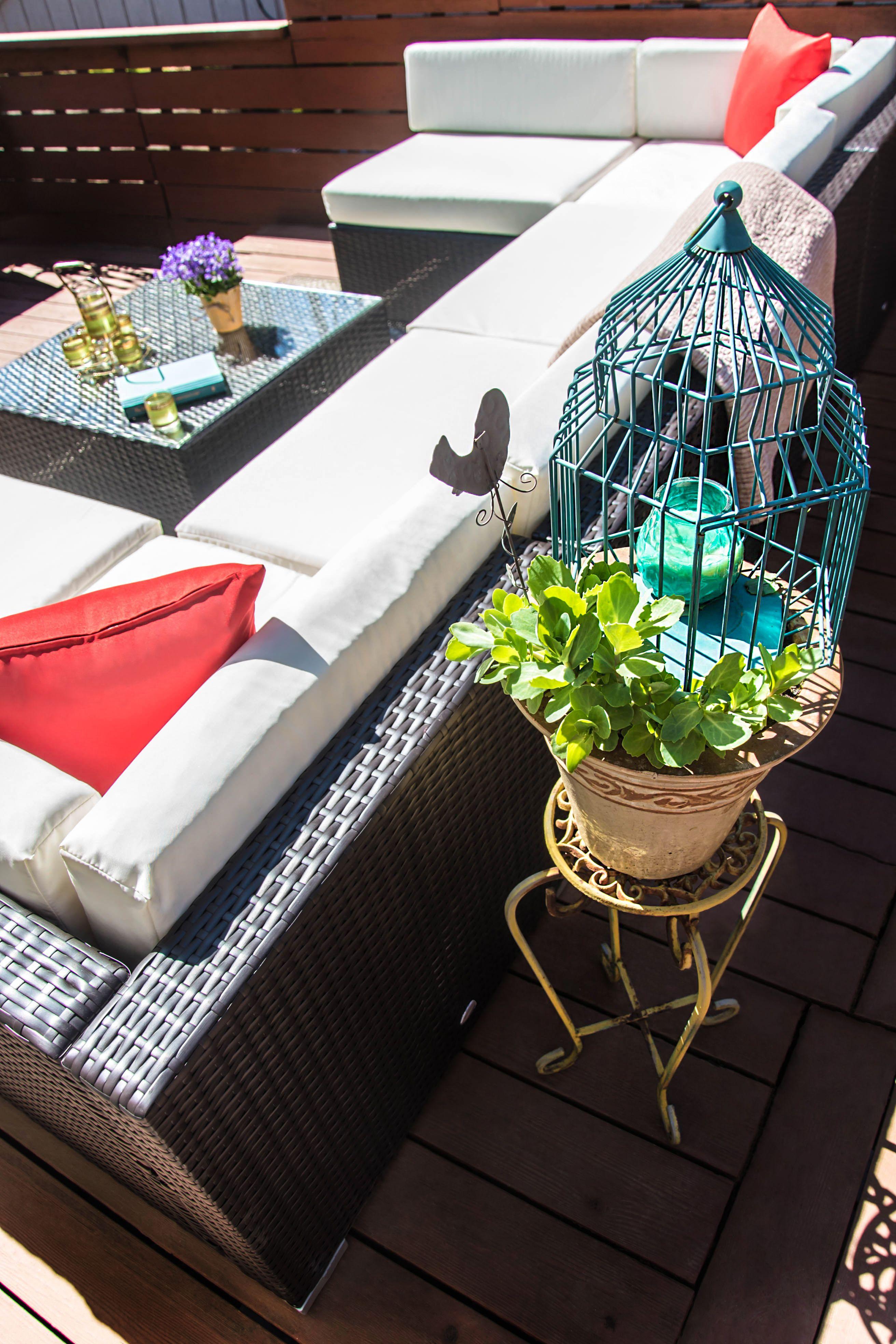 outsunny 7 piece outdoor patio rattan wicker sofa sectional rh pinterest com