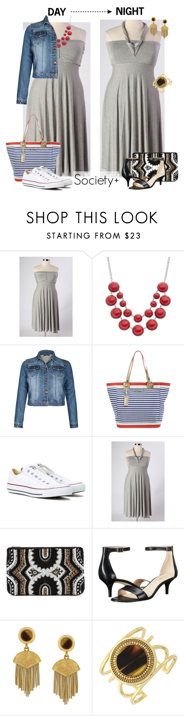"""Plus Size Day to Night - Society+"" by iamsocietyplus on Polyvore featuring Lilly Pulitzer, Converse, Forever 21, Nine West, Vince Camuto, plussize, plussizefashion, societyplus and iamsocietyplus"