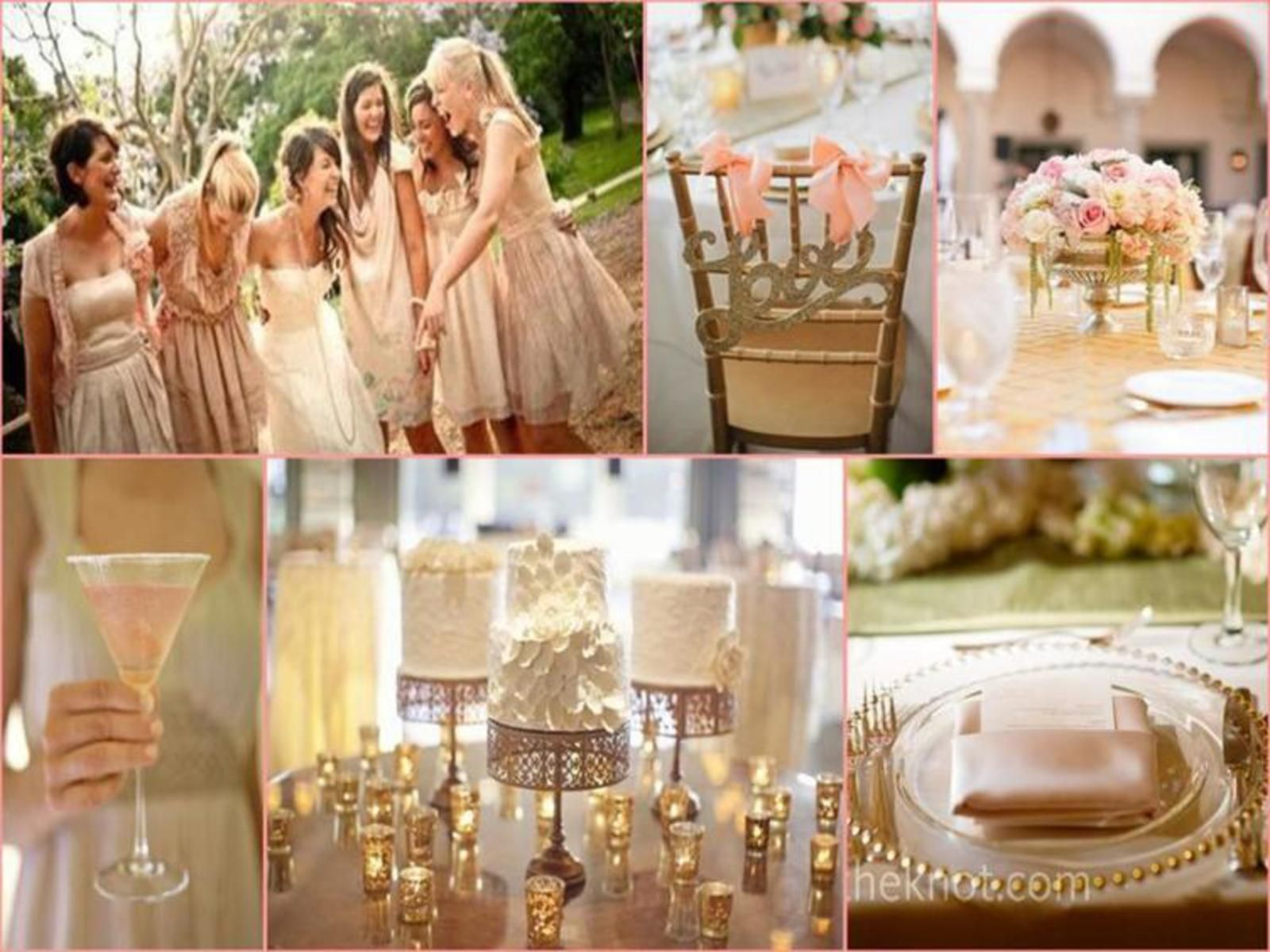 Love The Gold Rimmed Chargers With Blush Napkin