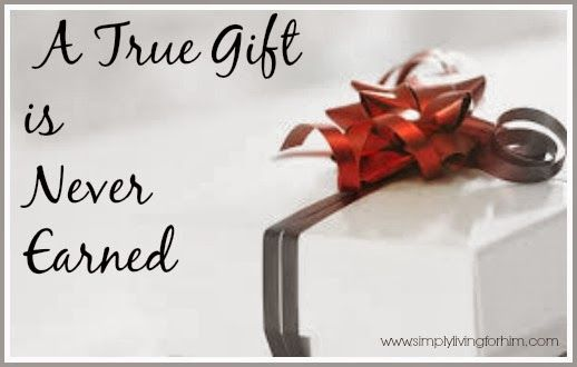 """May I never teach my children that they are being """"good"""" in order to get something.  Rather, may they obey out of their response to God for His FREE and undeserved gift in Jesus Christ."""