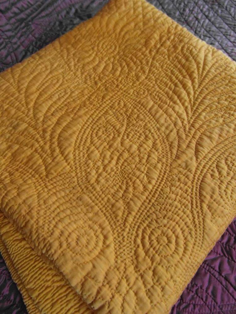 Large Antique Durham Whole Cloth Quilt Hand Stitched Whole Cloth Quilts Vintage Quilts Hand Quilting Patterns