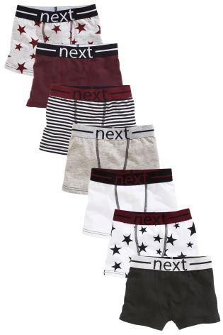 קנה מארז שבעה זוגות תחתוני גברים בצבעי שזיף\אפור עם הדפסי כוכבים (2-16yrs)…