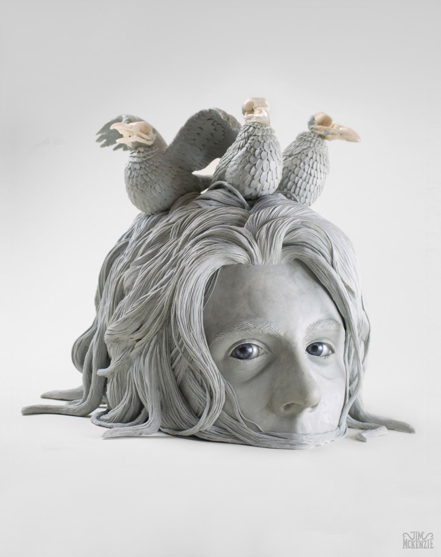 Jim McKenzie 🖤💜 sculpture 💜airdryclay airdryclaydiy