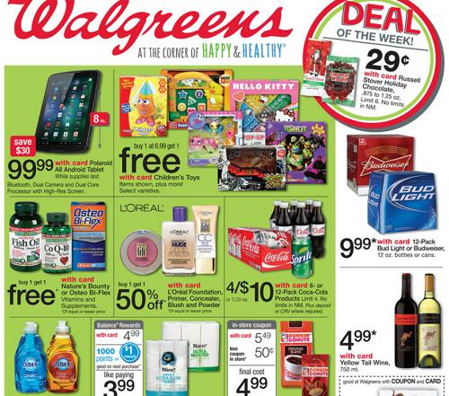 Walgreens Ad Matchups 4 Day Sale for 11/24 thru 11/27