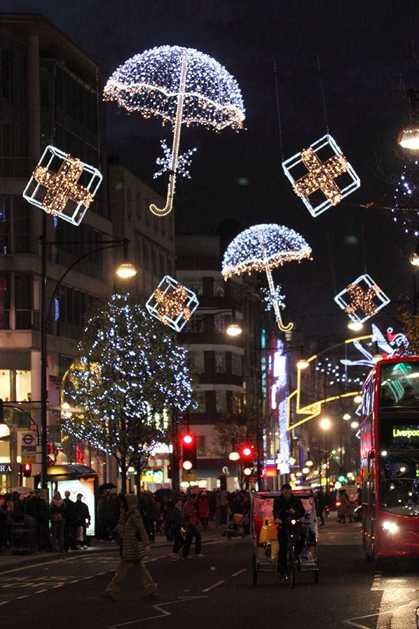 Christmas Lights In Oxford Street London By Kupenska Deviantart Com On Deviantart Outdoor Christmas Christmas Lights London Christmas