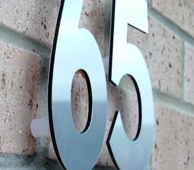 Design My House Number Modern Raised Off The Wall Numbers For Your Home And Business
