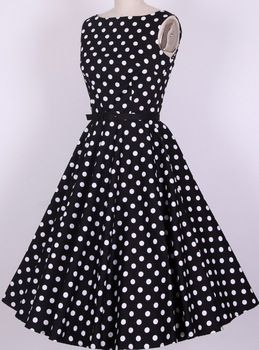 759a0d4526c52 cotton S-6XL rockabilly pin up vintage dresses retro Audrey dress women new fashion  50s swing polka dots vestidos plus size