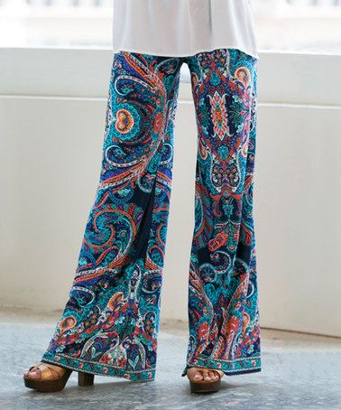 This Blue Paisley Palazzo Pants is perfect! #zulilyfinds