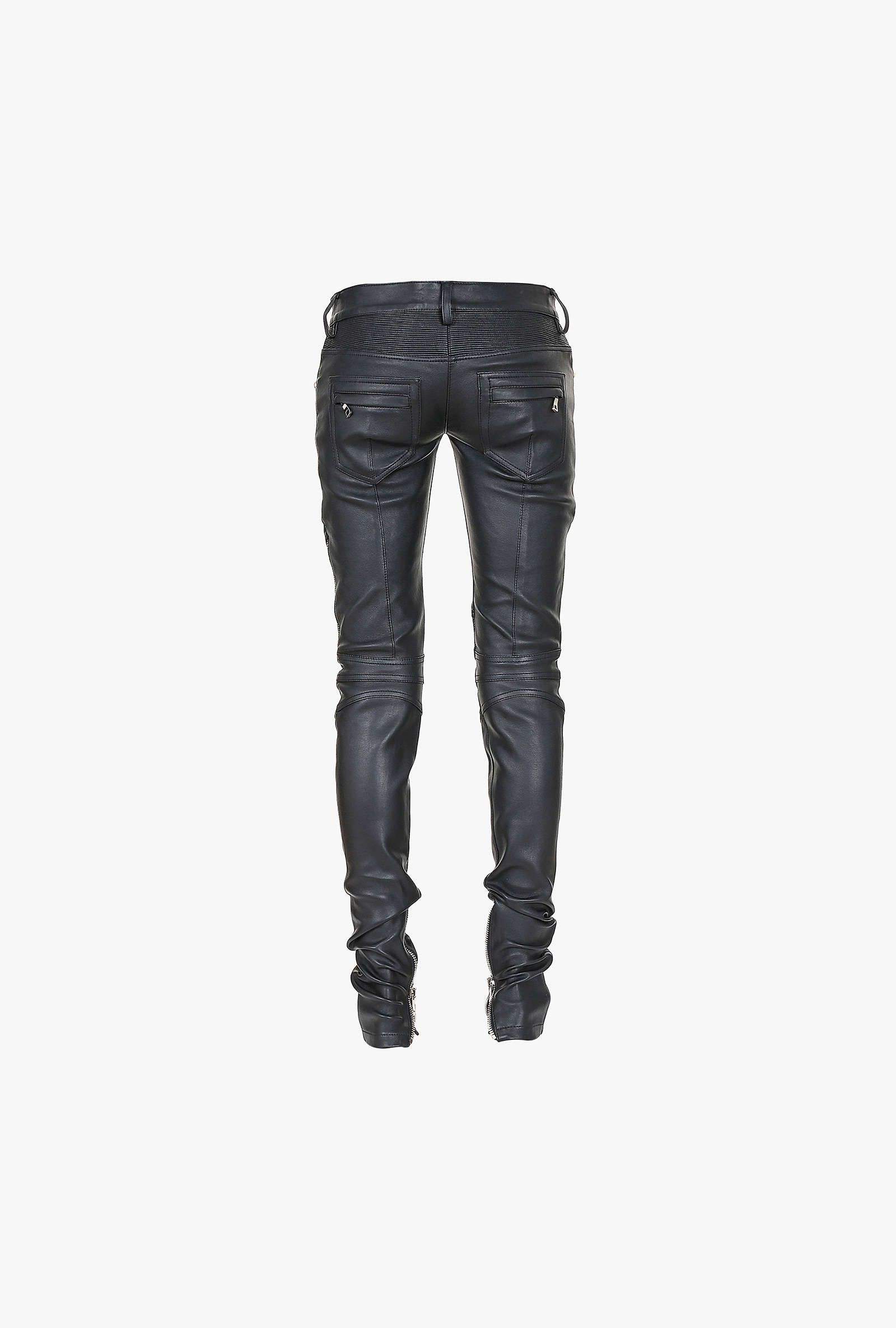 super cheap latest discount super cheap Ribbed stretch leather biker pants | Women's leather ...