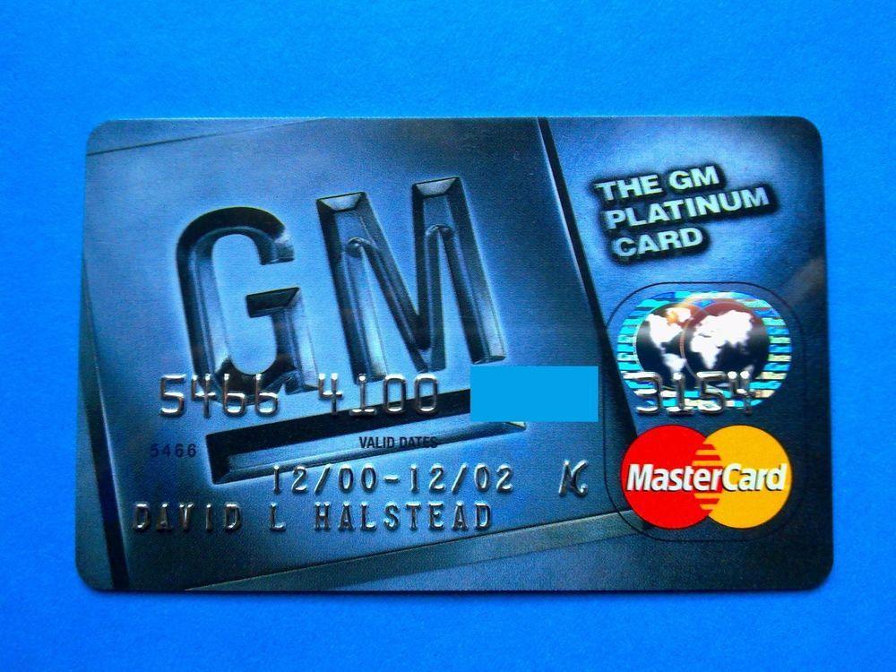 Usa General Motors Platinum Card Predmety Dlya Kollekcij