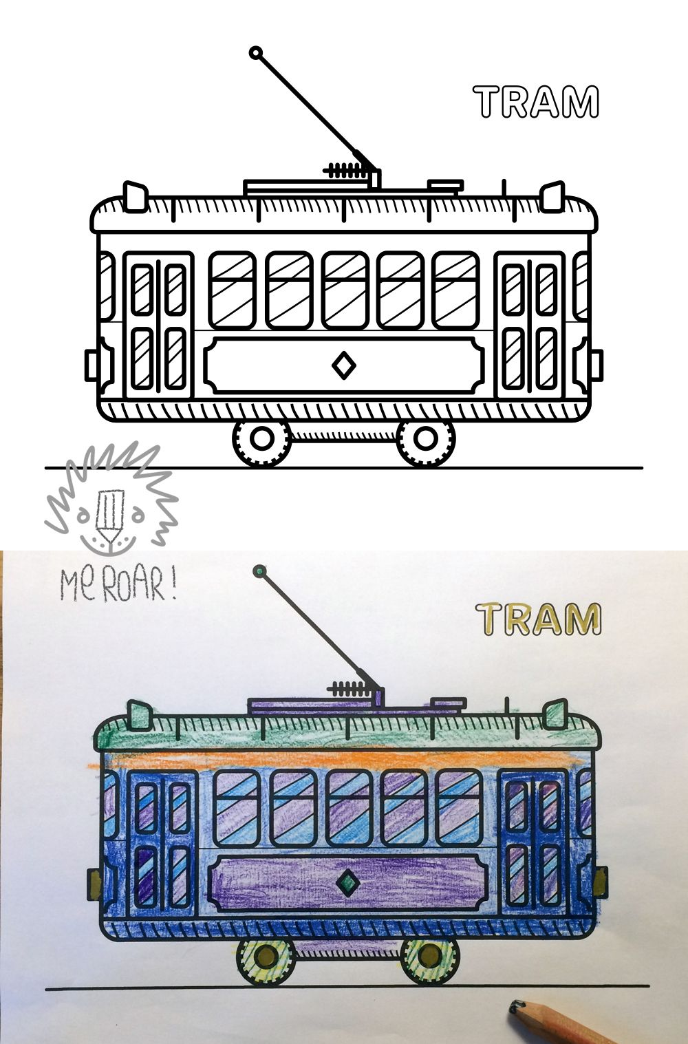 Big coloring book for girls and boys who love trains, cars ...