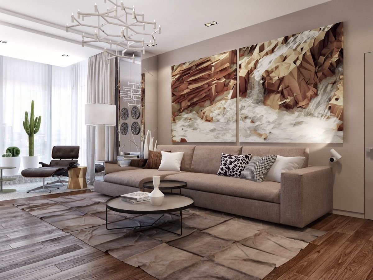 Large Wall Paintings For Living Room Part - 40: 25 Great Tips For An Extra Stylish And Cozy Living Room