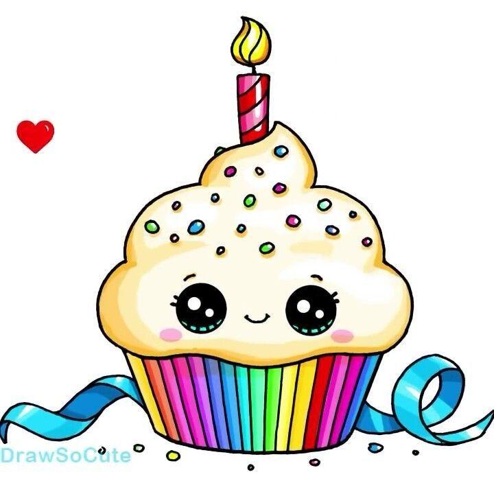 Cupcake Anniversaire Dessin Kawaii 365 Dessins Kawaii