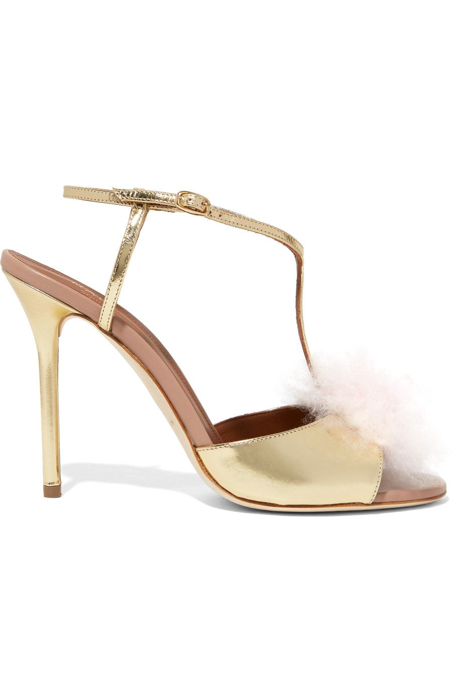 Find this Pin and more on Malone Souliers. Malone Souliers - Betsy cashmere  and metallic leather sandals