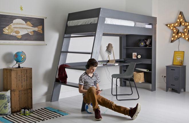 Lit mezzanine sasha lullaby pinterest lits lits mezzanine et mezzanine for Chambre loft ado