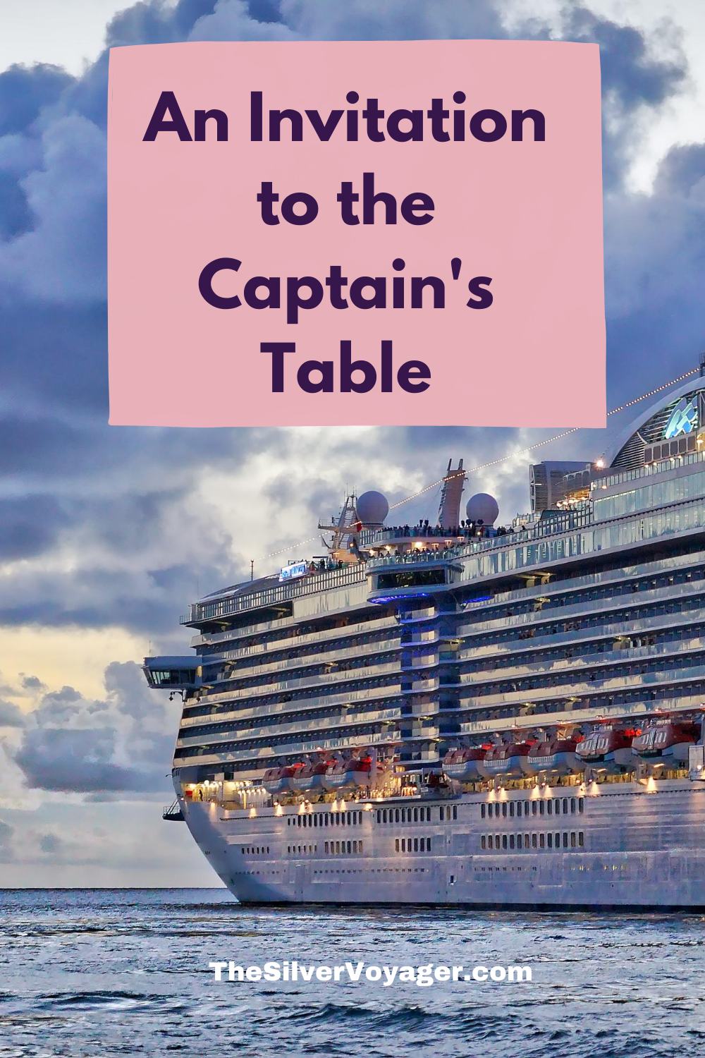 An Invitation To The Captain S Table What Is Like Captain Invitations
