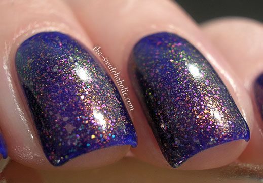 Revlon Royal layered with Ozotic Elytra 528+CND Gold Sparkle+Clarins 230