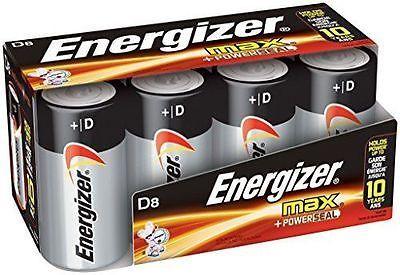 Energizer Max Alkaline Size D 8 Pack