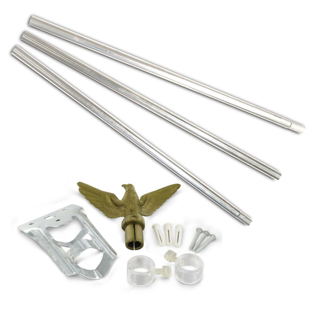 Best American Flag Pole Kit Residential Economical Set With Mounting Hardware Usflagstore Flag Store Flag Pole Kits Flag Pole