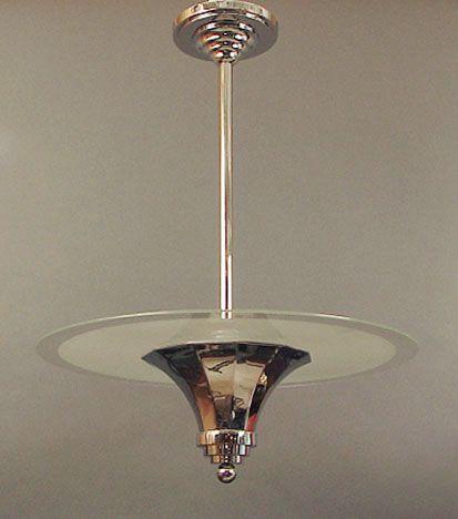 French Art Deco Chandeliers by Muller, Degue, Schneider, Daum, Hettier Vincent, Delatte, etc.
